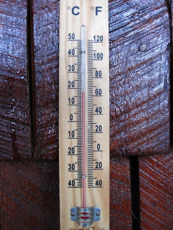 อุณหภูมิ ณ เวลาประมาณหกโมงเย็น
